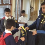Players receive their kit