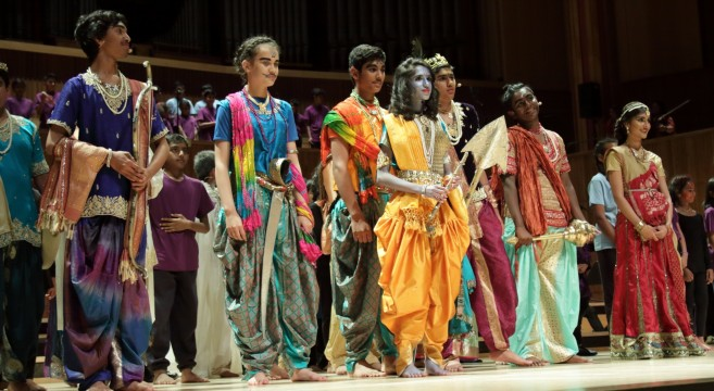 Krishna with the Pandavas and Draupadi